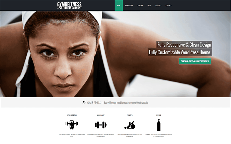 Gym Sports & Fitness WordPress Theme