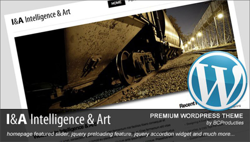 HTML5 Intelligence & Art WordPress Theme