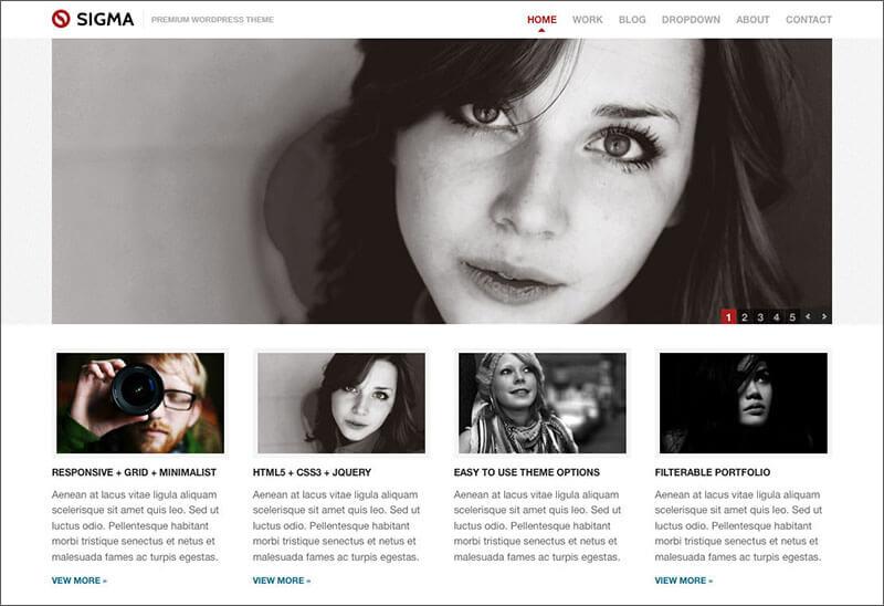 HTML5 Minimalist Responsive WordPress Theme