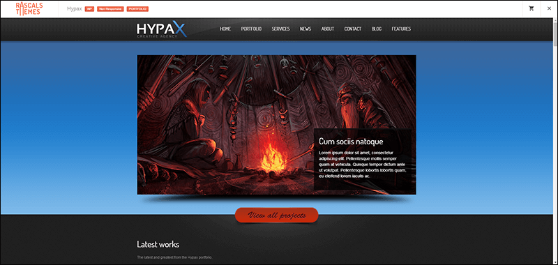 HYPAX – One Page WordPress Theme