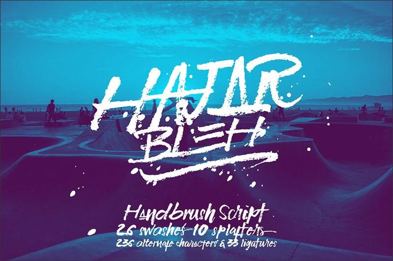 HajarBleh Brush Font