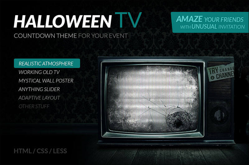 Halloween TV – HTML Countdown Theme