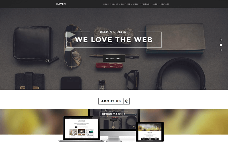 Haven - Elegant One Page Joomla Template
