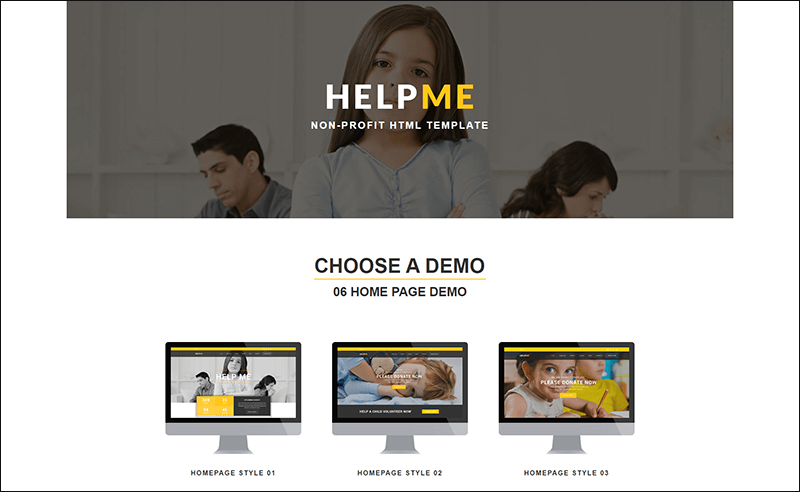 HelpMe - Non-profit Charity HTML Template
