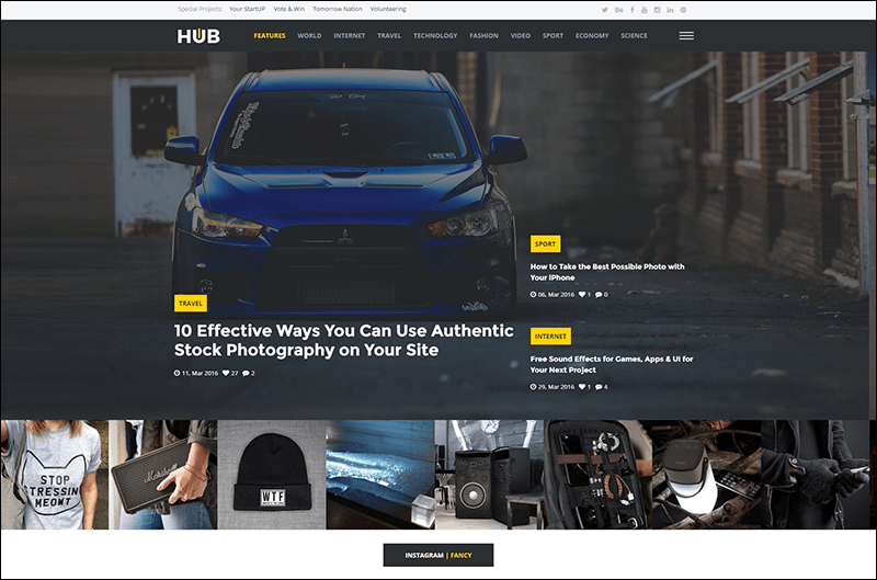 Creative Blog & Magazine Drupal 8 Theme