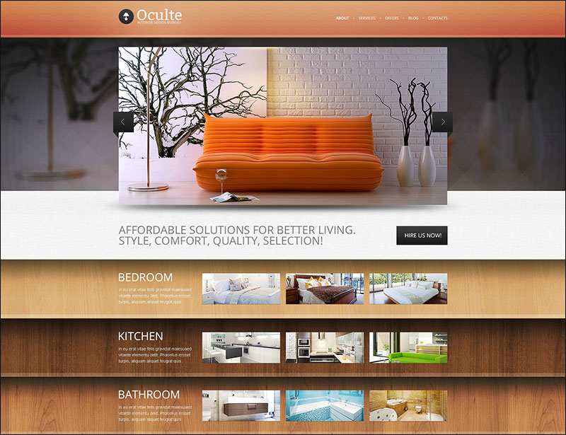 Interior Design Bureau Drupal Template