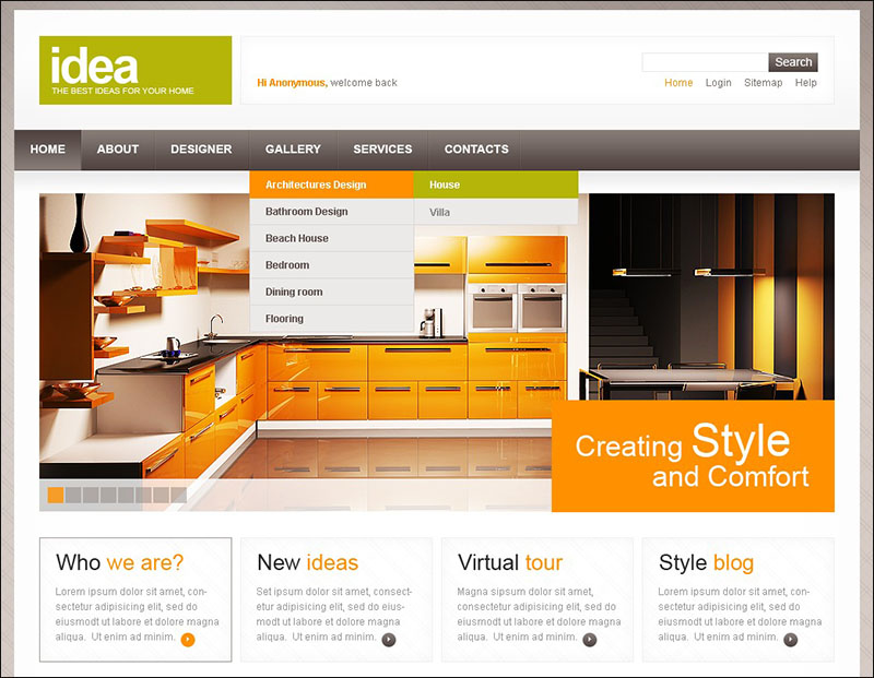 Interior Design Drupal Template 2