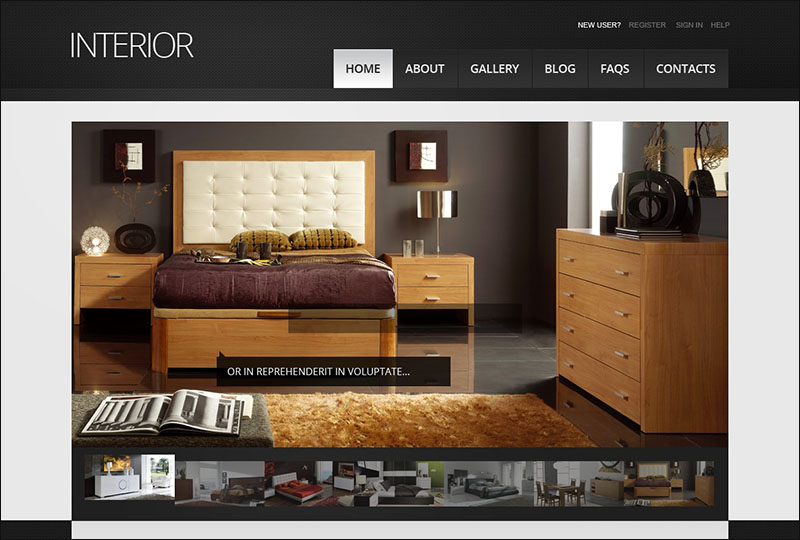 Interior Design Drupal Template 7