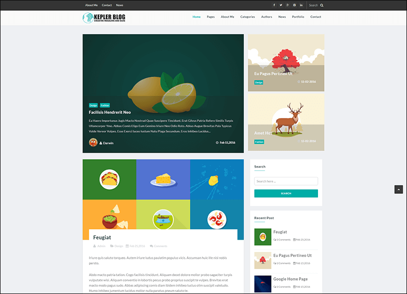 Kepler – Premium Blog Magazine Drupal theme