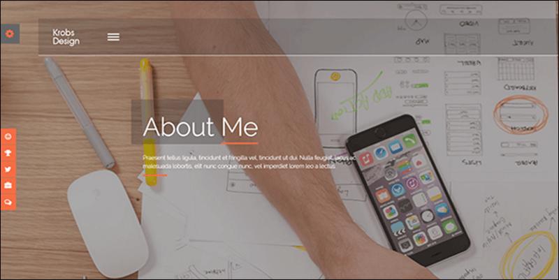 Krobs -Personal Onepage Responsive Joomla Template