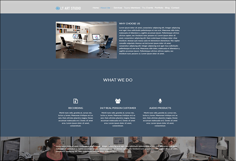 LT Art Studio WordPress Theme