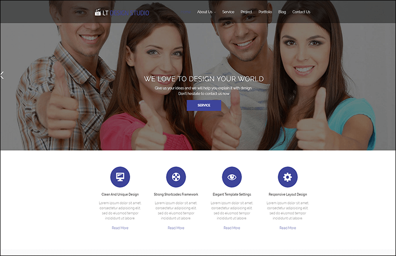 LT Design Studio WordPress Theme