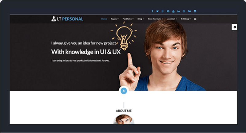 LT Personal Onepage Joomla Template
