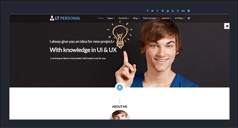 LT Personal Onepage Joomla Template