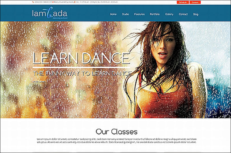 Lambada - WP Dance Studio Theme