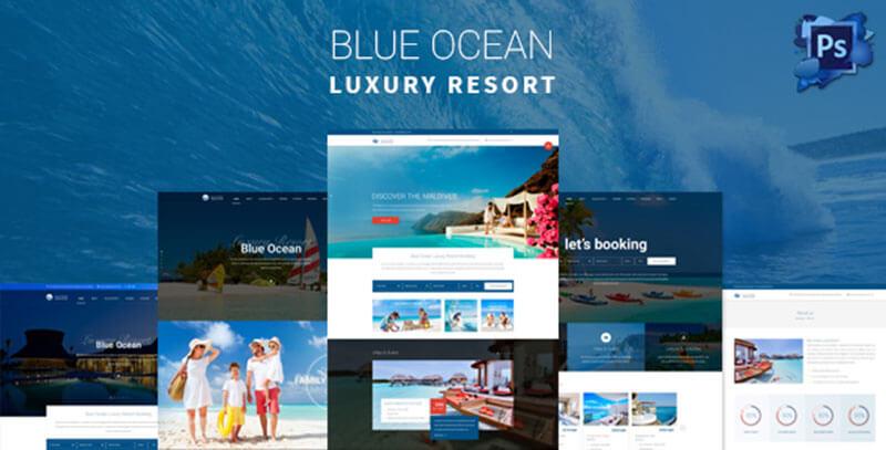 Luxury Resort & Hotel PSD Template