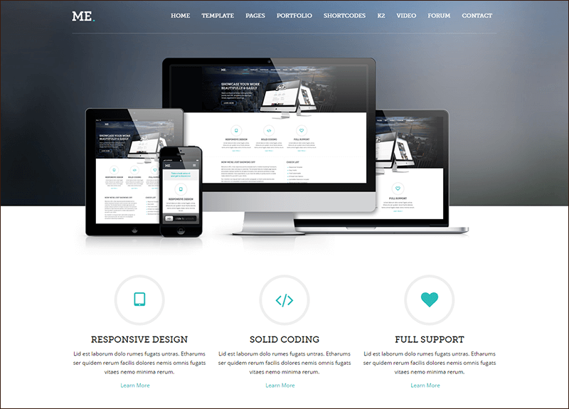 ME - MultiPurpose, Creative Joomla Template