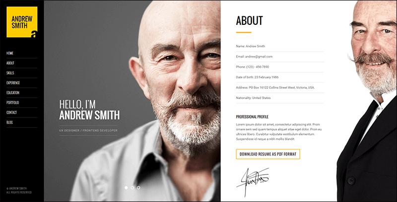MEE - Responsive Resume Personal Portfolio Joomla Template