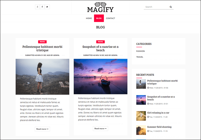 Magify – A Responsive Blog Magazine Theme for Drupal