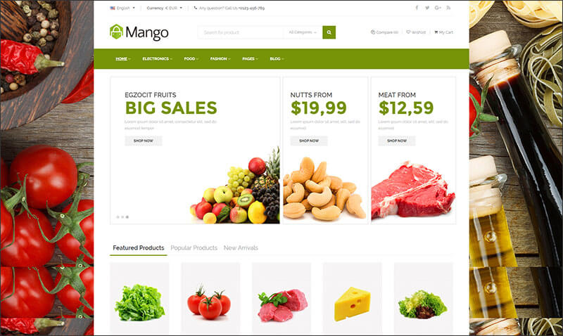 Mango - Ultimate Responsive Prestashop Theme
