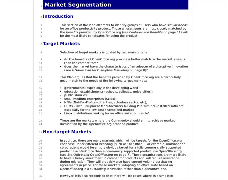 marketing-strategy-segmentation-template