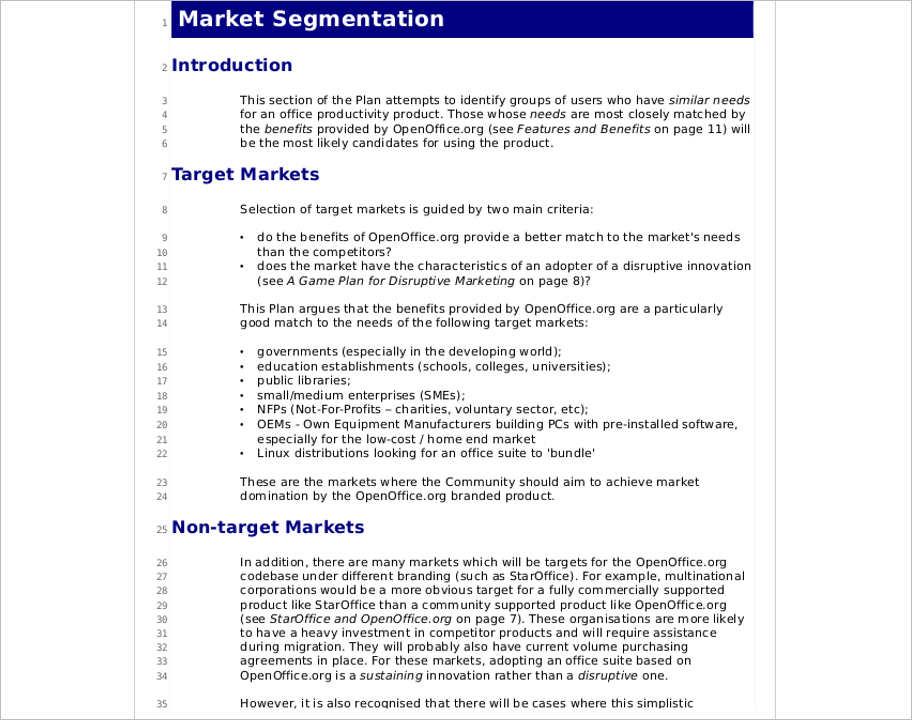 marketing-strategy-segmentation-template