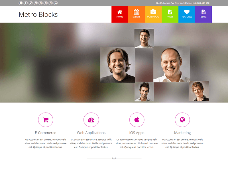 Metro-Blocks - Multi-Purpose Drupal Theme