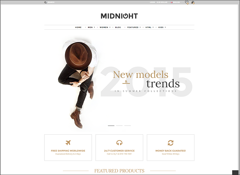 Midnight - Responsive Opencart Theme