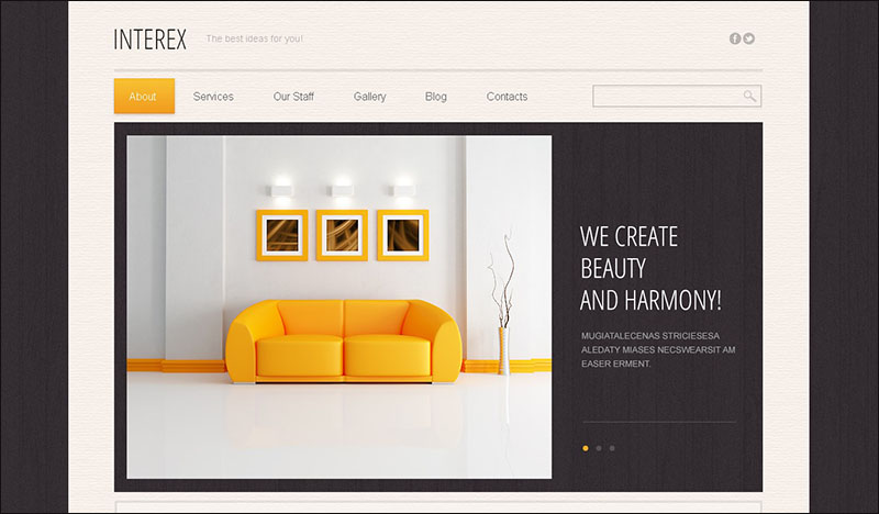 Minimalist Interior Design Drupal Template