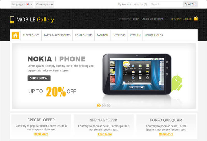 Mobile Gallery – Responsive Opencart Theme