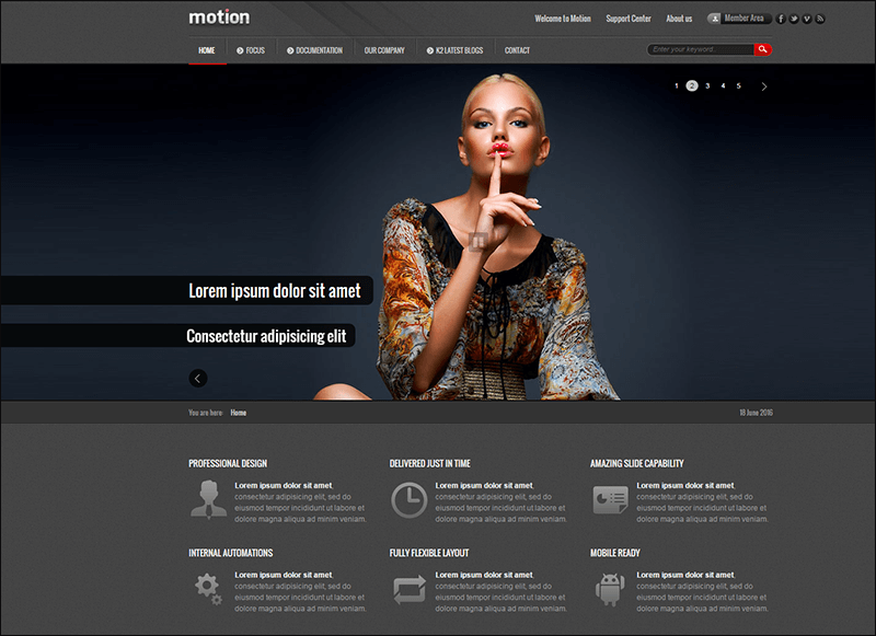 Motion Corporate Template for Joomla!