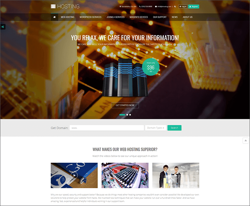 Multipurpose Hosting Joomla Template