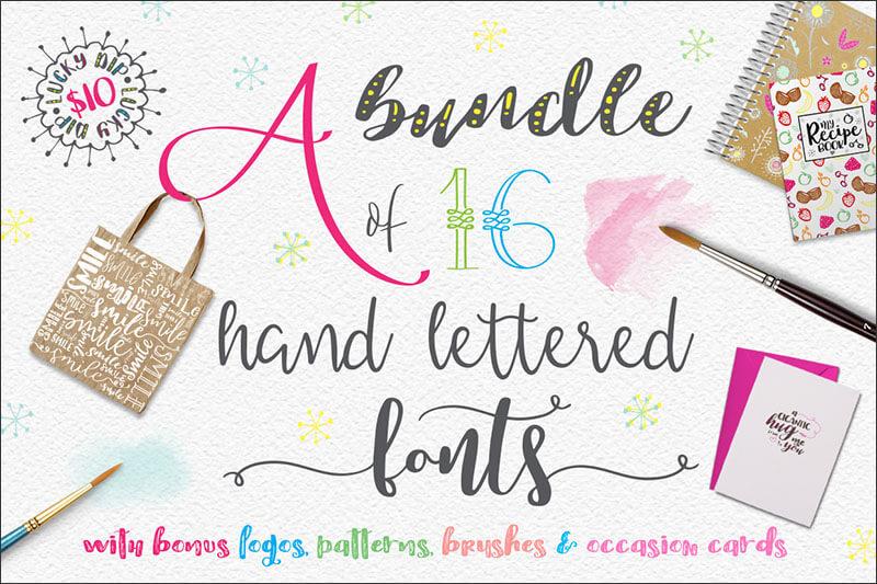 New Handlettered Font Bundle