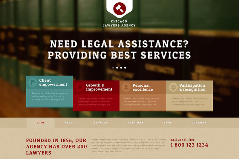 New Lawyers Agency Joomla Template