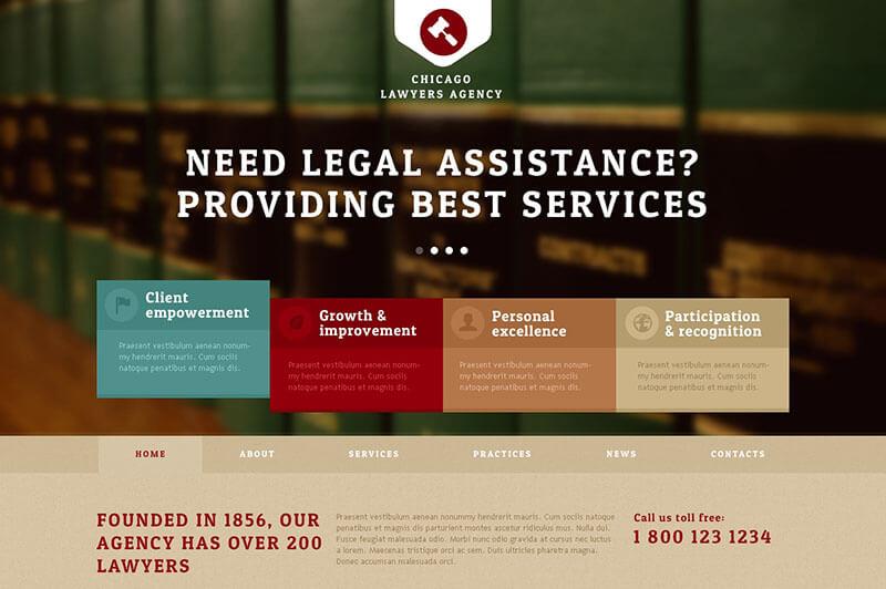 New Lawyers Agency Joomla Template