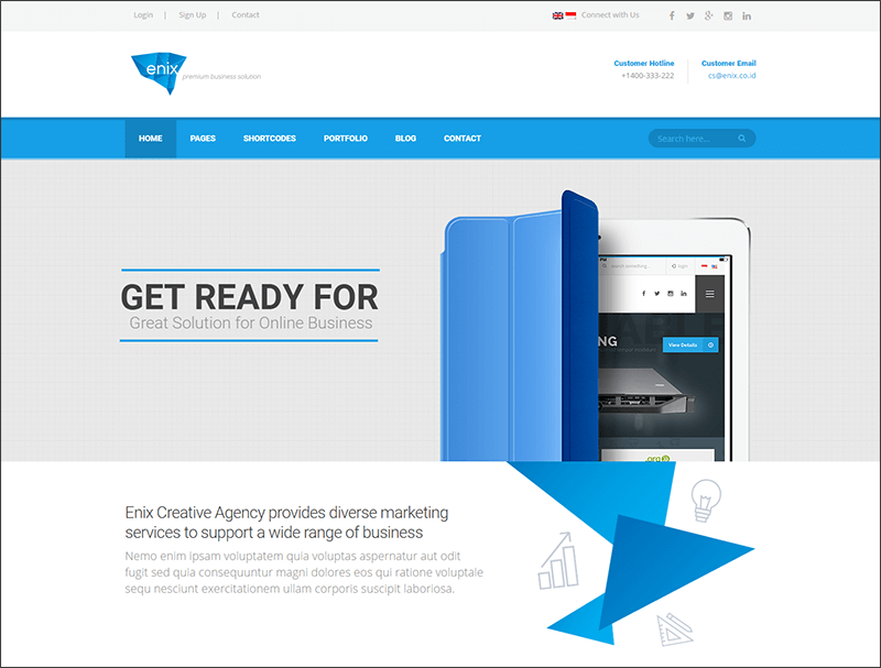 New Modern Corporate WordPress Theme