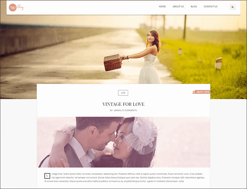 New Responsive Blog WordPress Theme