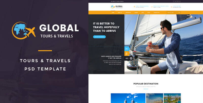 New Tours & Travels PSD Template