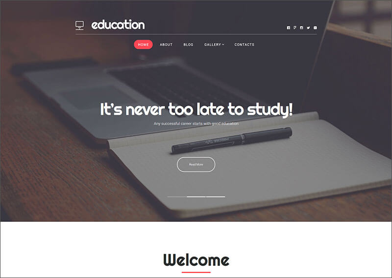 New WordPress Theme Of Education Hub