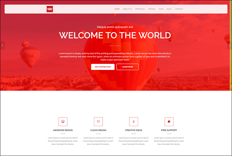 One Page Responsive Theme
