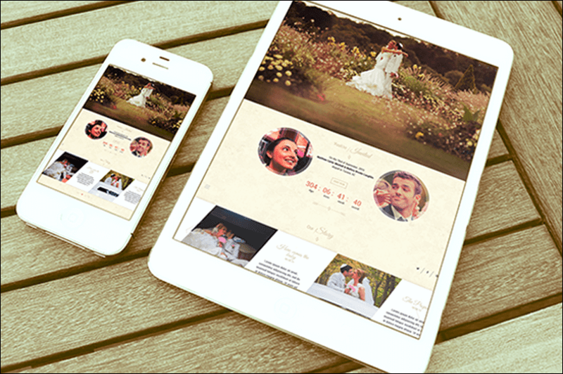 Onepage Wedding WordPress Theme