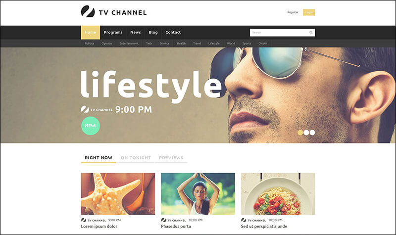 Online TV Channel Joomla Template