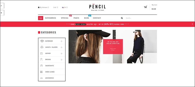 Pencil - Responsive Fashion Prestashop Theme