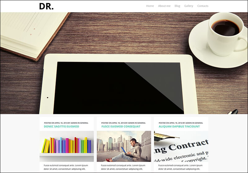 Personal Pages Joomla Template