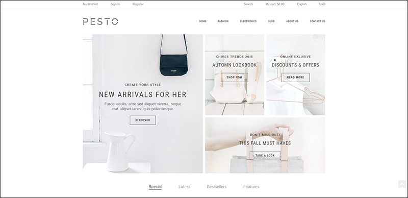 Pesto - Responsive Shopify Template