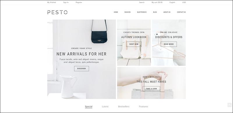 Pesto - Responsive Shopify Template