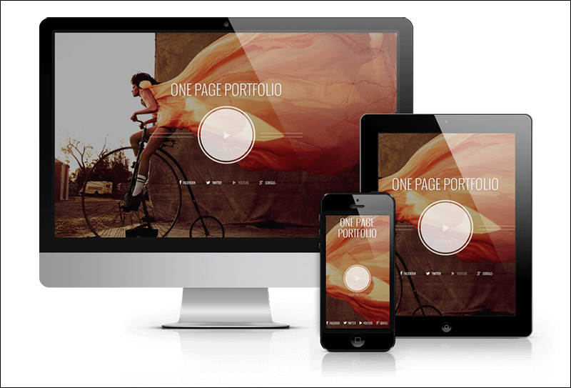 Photographer One Page WP Theme