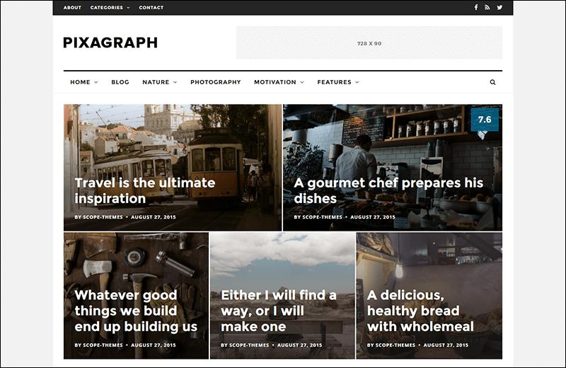 Pixagraph – Responsive WordPress News/Blog Theme