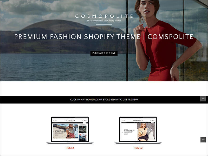 Premium Fashion Shopify Theme Comospolite