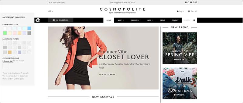 Premium Fashion Shopify Theme Comospolite
